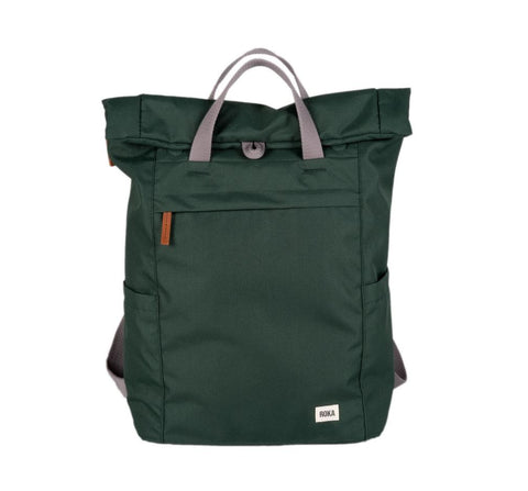Finchley A Large Sustainable Rucksack in Forest Green