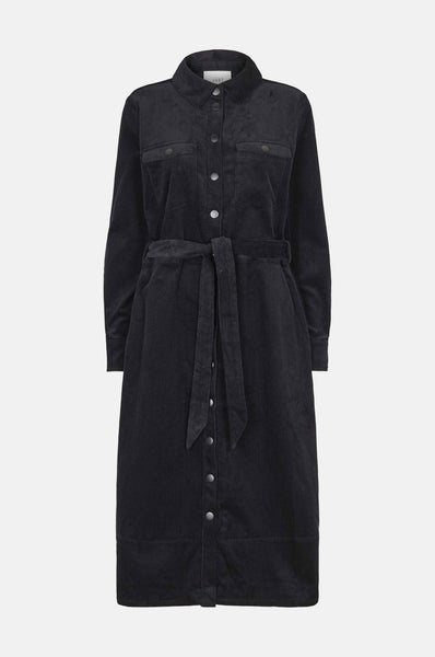 Harlow Cord Dress - Black