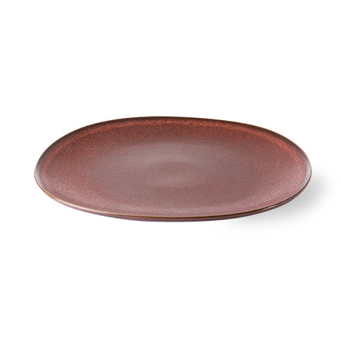 Bold and Basic Ceramic Dinner Plate Terra