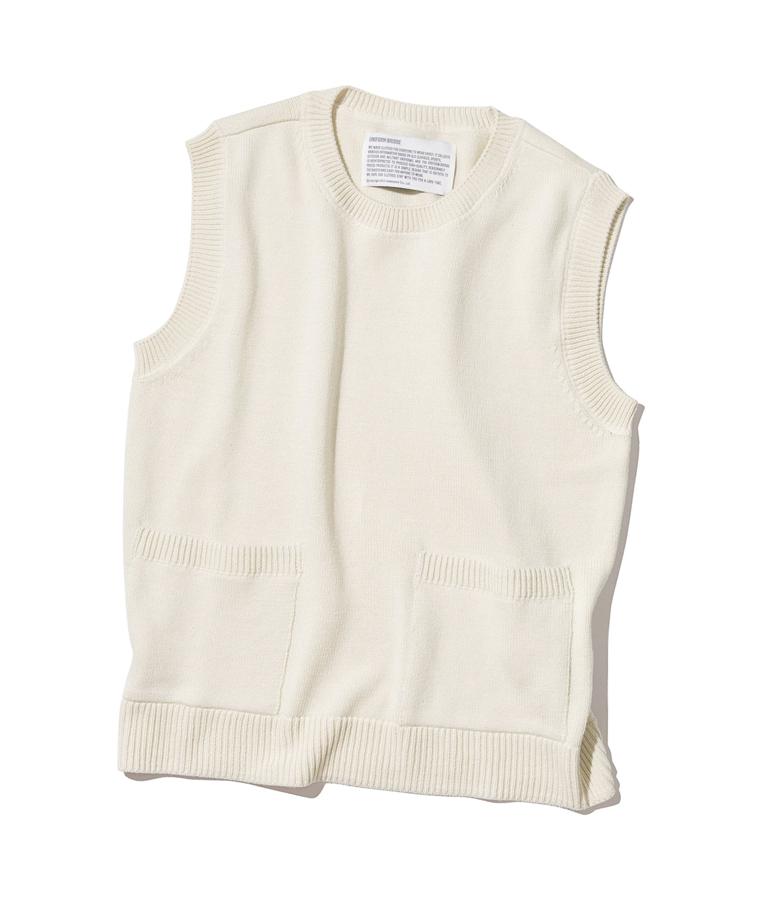 Knit Vest in Off White