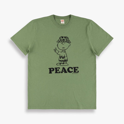Peace Tee in Olive