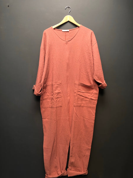 Snuggle Jumpsuit in Dusty Pink