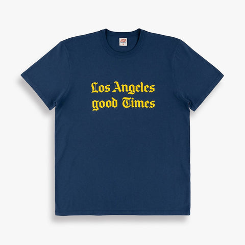 L A Good Times Tee in Navy
