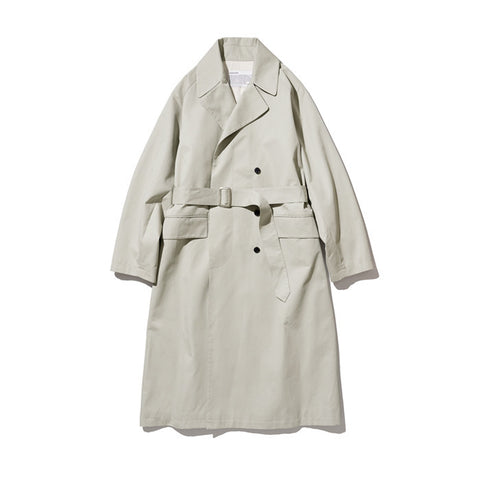 Belted Coat in light grey