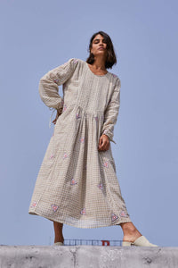 Tanya Dress in Earth Gingham