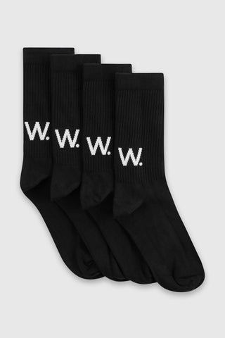 Gail Socks (2 pack) in Black