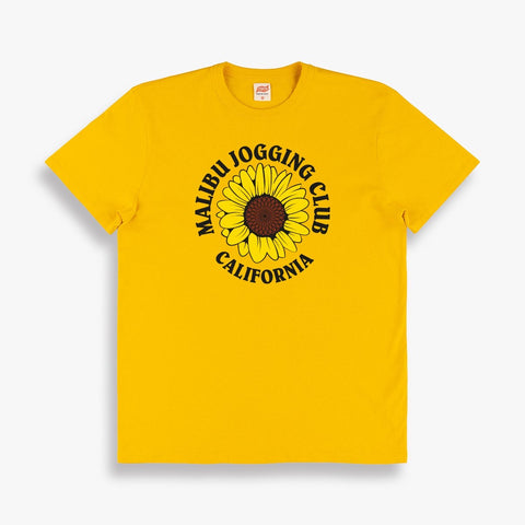 Malibu Jogging Club Tee in Yellow