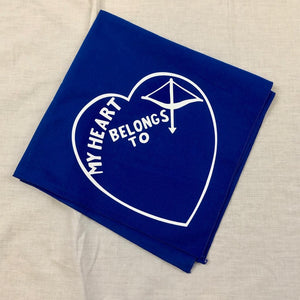 Heart Bandana Blue