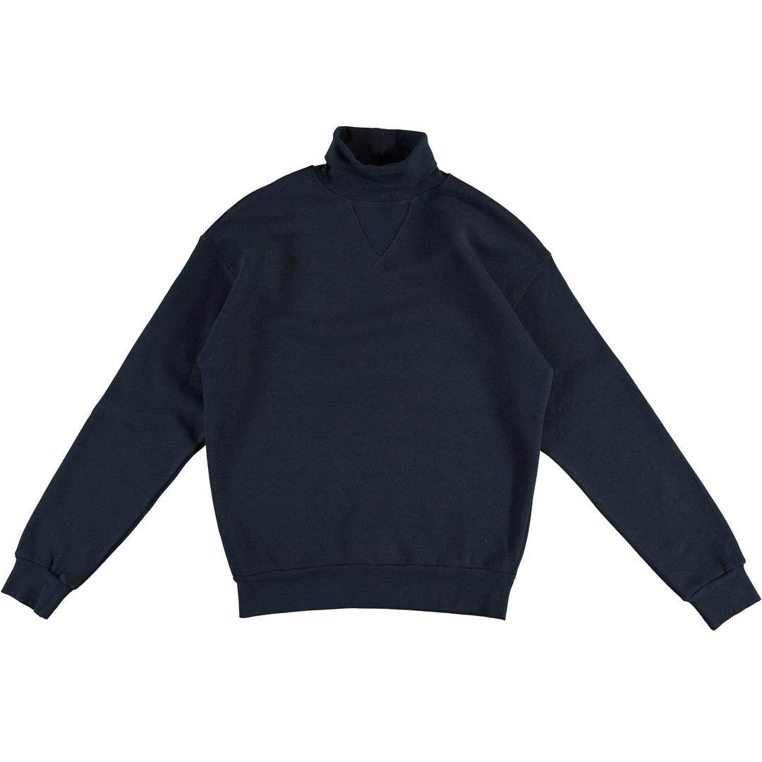 Softball Jersey Cotton Wool Fleece in Navy