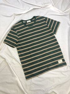 Carl Striped Crew neck T-Shirt in Green