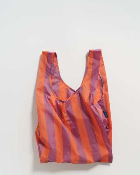 Orange and Mauve Stripe Standard Tote