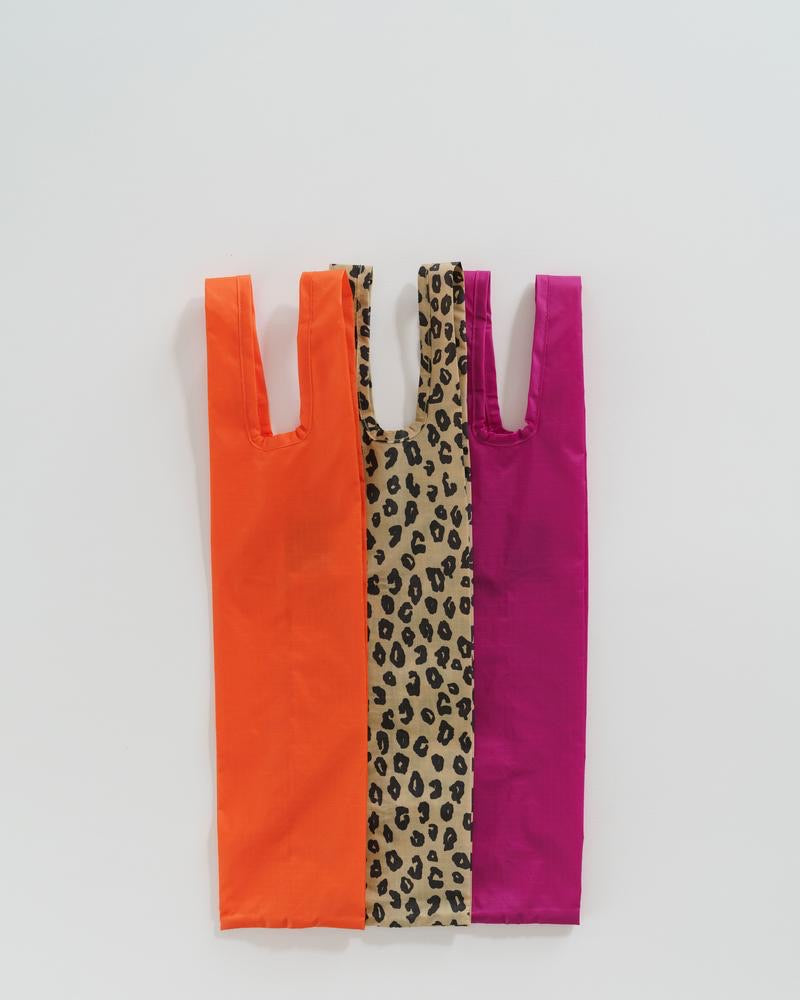 Bottle Bag Set of 3 Leopard Print