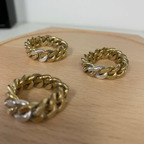 Brass curb chain ring