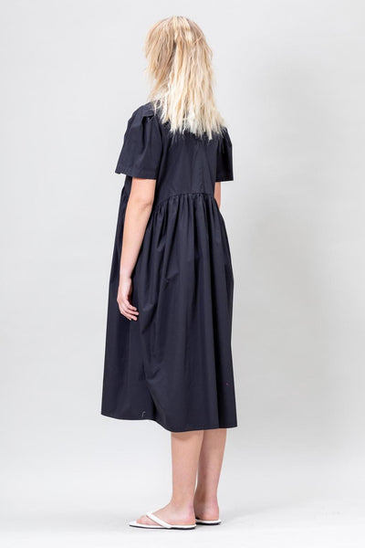 Spring Garden Dress in Onyx Black