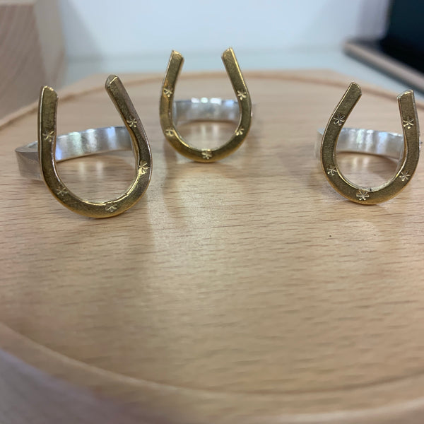 Silver Spur Horse shoe ring