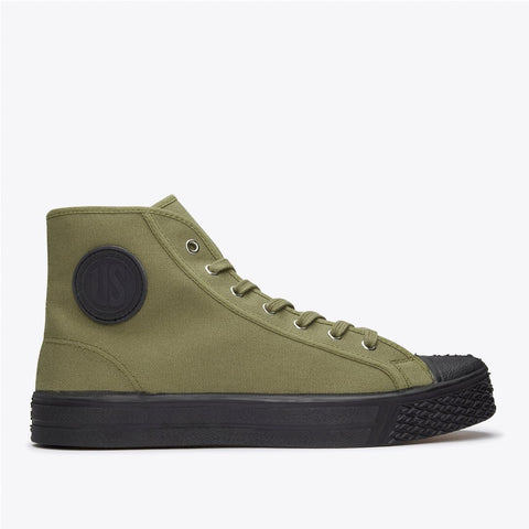 Military High Tops in Military Green