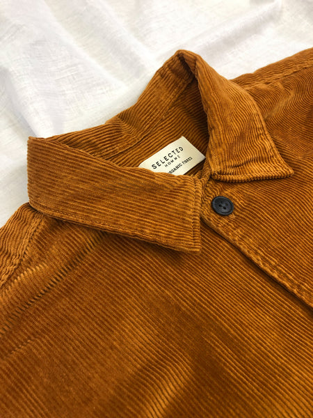 Loosecord Corduroy Overshirt in Almond