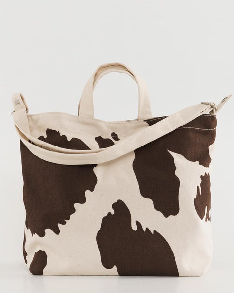 Horizontal Duck Tote in Cow Print