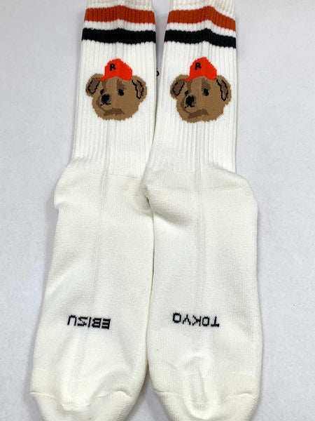 Team Bear White Socks