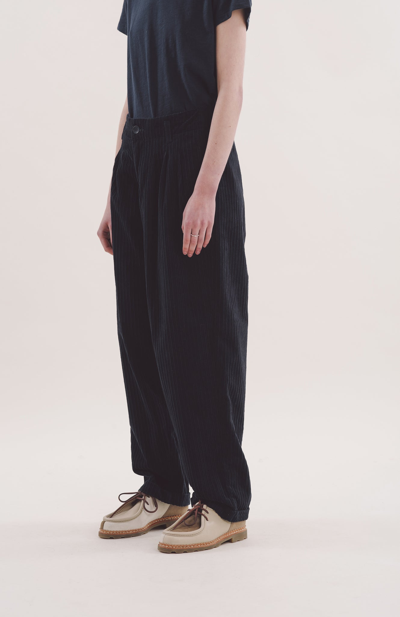 Keaton Trousers in Navy Cord