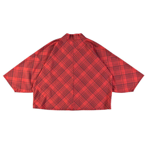 Short Kimono in Masai Red Check
