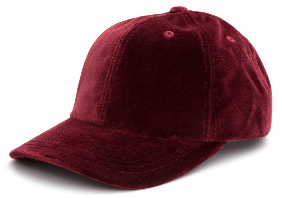Velvet Cap in Burgundy