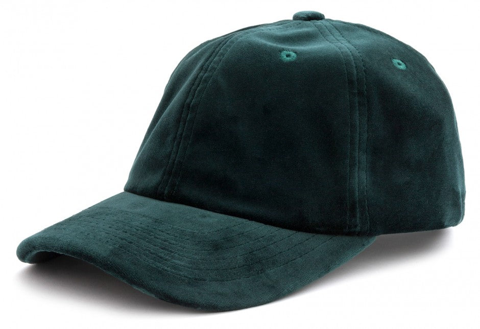 Velvet Cap in Green