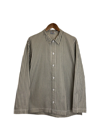 Long Sleeve Weaver's Stock Mattress Stripe Shirt - Black
