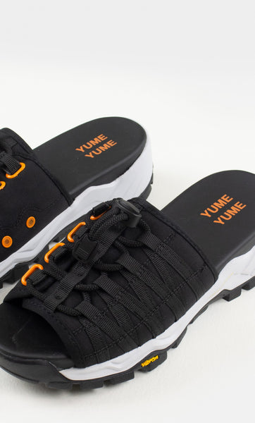 Mount Kita Sandal in Black and Orange
