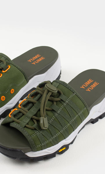 Mount Kita Sandal in Olive Green, Orange and Black