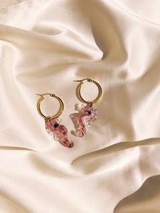 Seahorse Hoops in Lilac