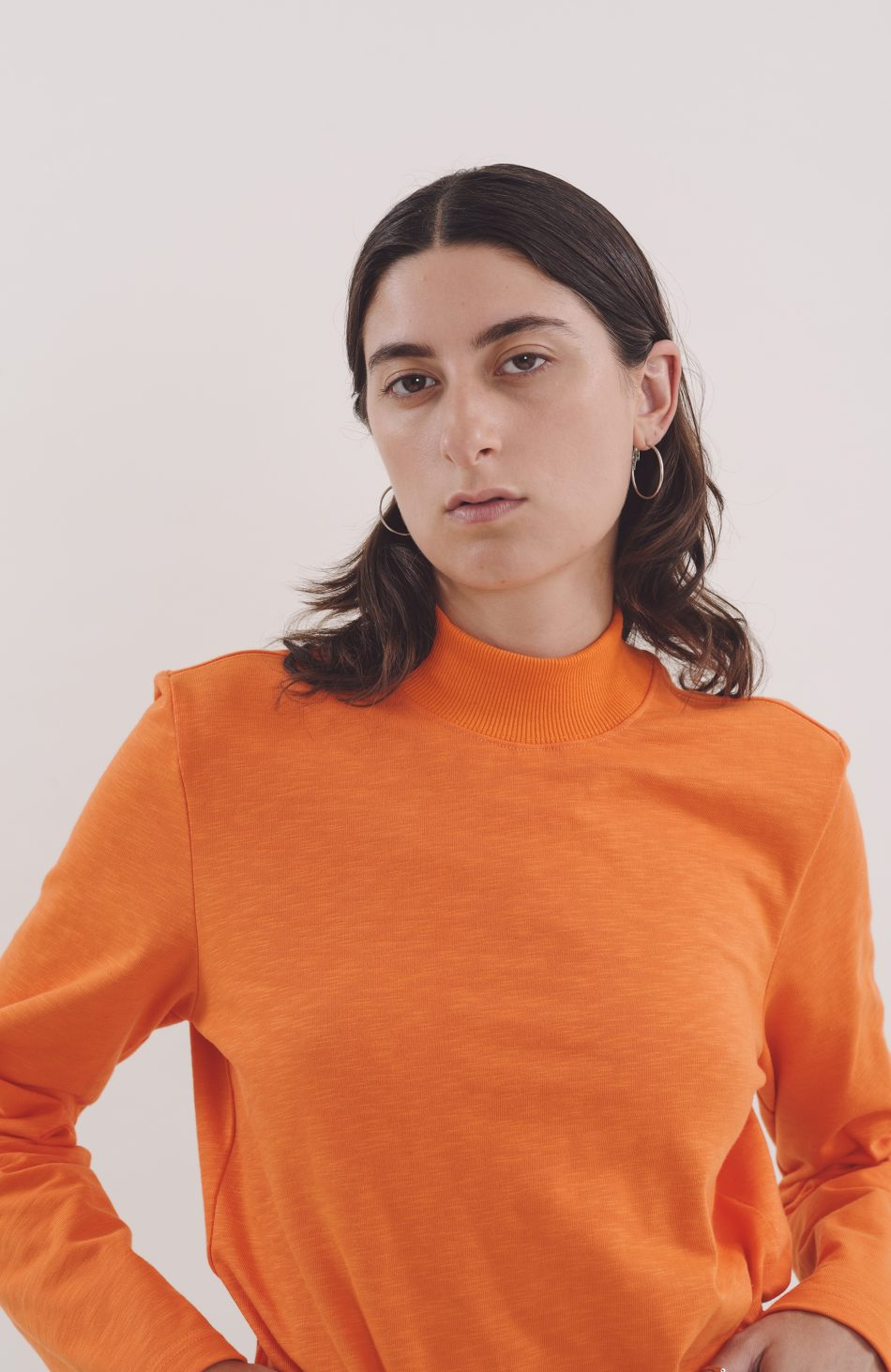 No Wave Top in Orange