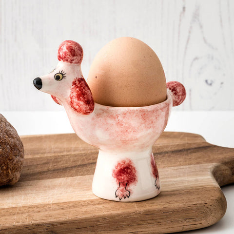 Poodle Egg Cup in Pink