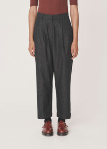 Market Pants in Charcoal Wool Flannel