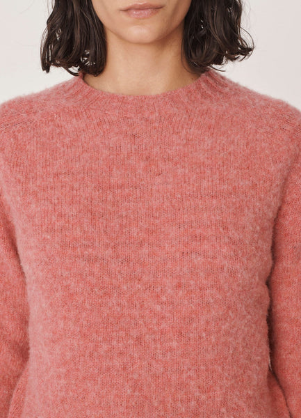 Jets Brushed Wool Sweater in Pink