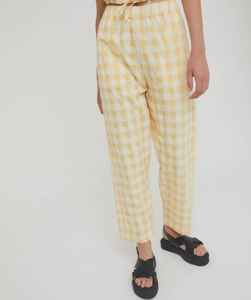 Alfi Pants in Yellow Check