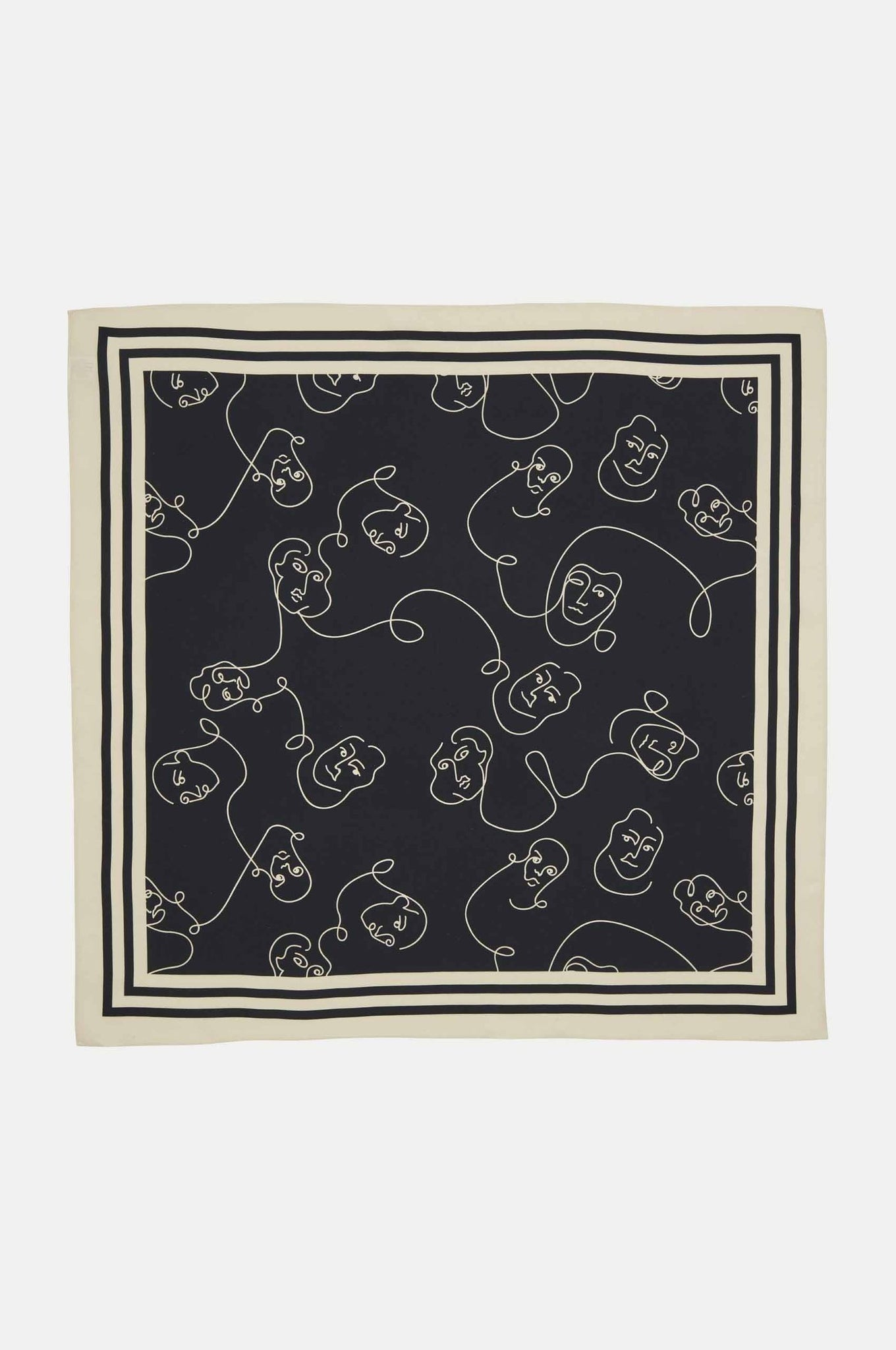 Sydney Silk Scarf in Black