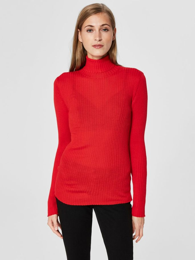 Costa Roll Neck in Red