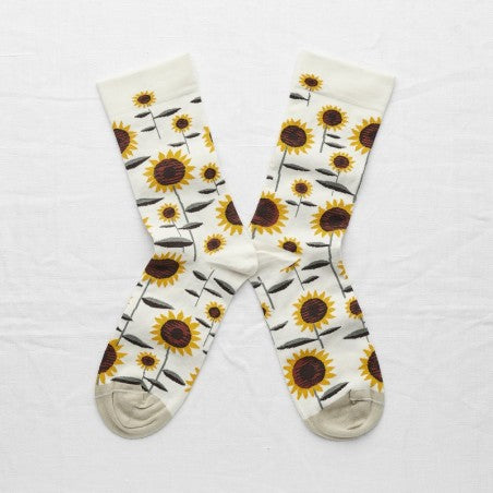 Natural Sunflower Socks
