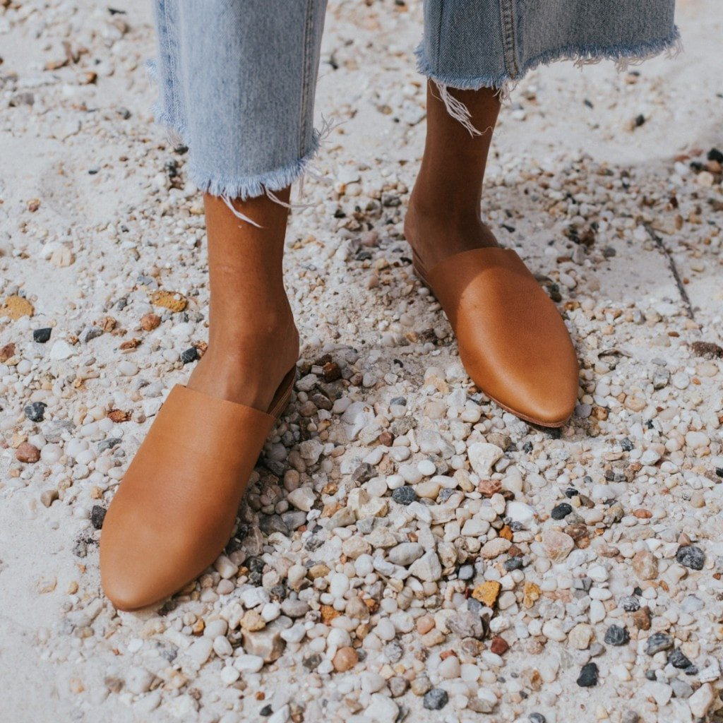 Paris Mules in Tan
