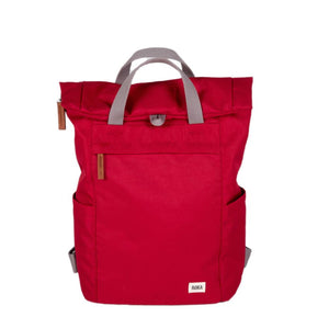 Finchley A Med Sustainable Rucksack in Volcanic Red