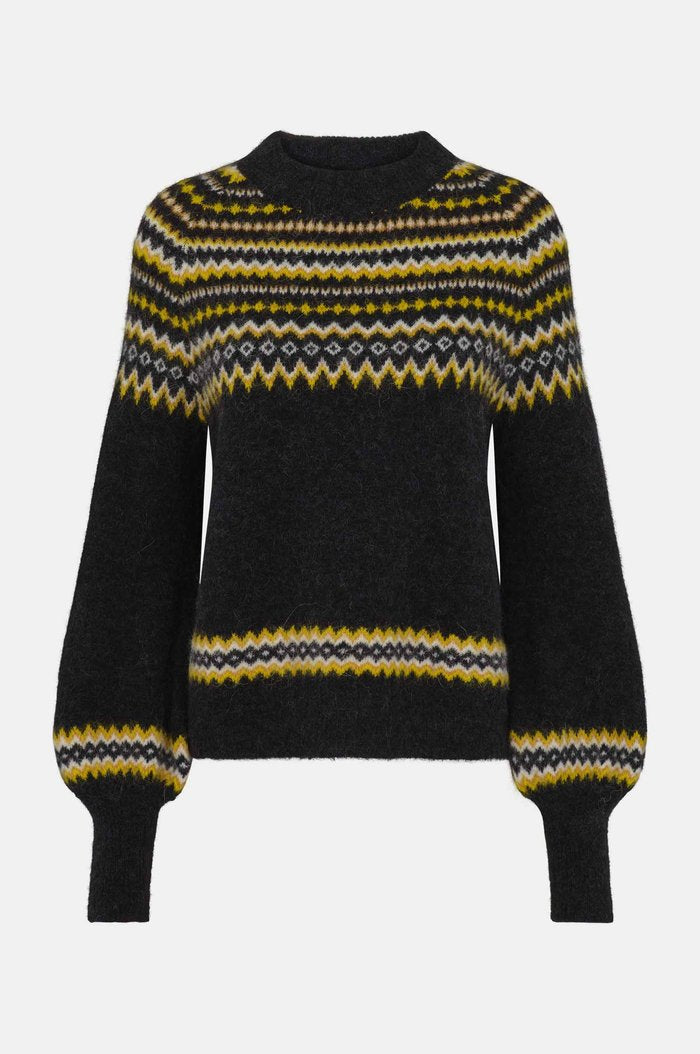 Svan Knit Jumper in Black