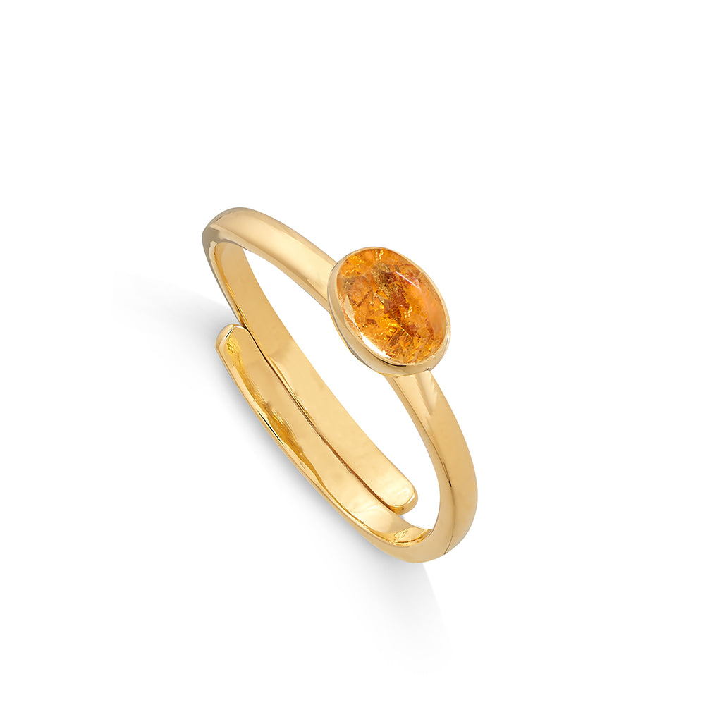 Citrine Atomic Micro Ring