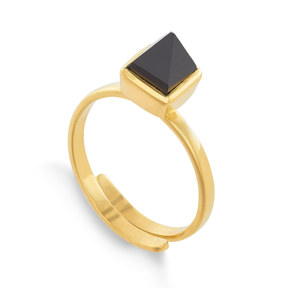 Black Spinel Rock the Casbah Ring