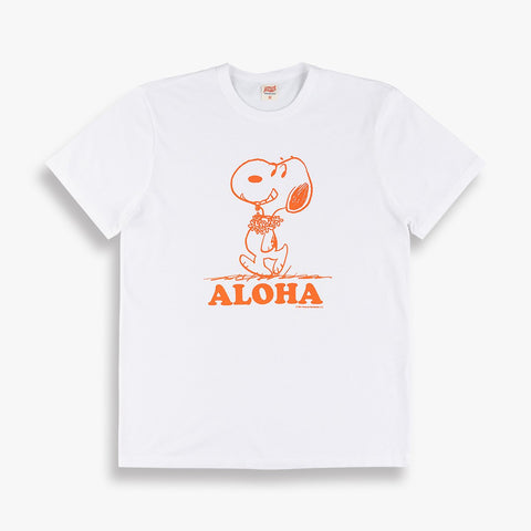 Aloha Snoopy Tee in White