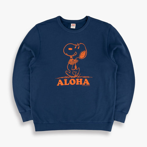 Aloha Snoopy Sweatshirt in Navy