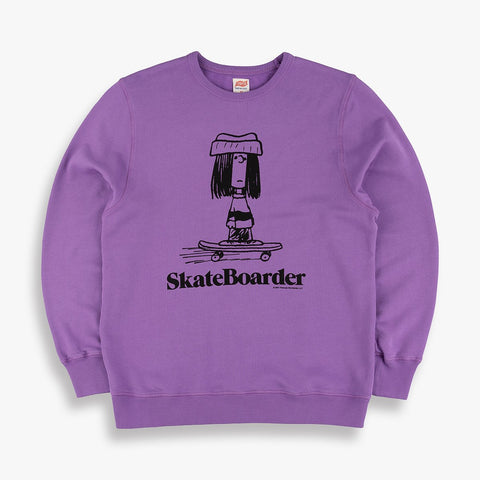 Skateboarder Sweatshirt in Purple