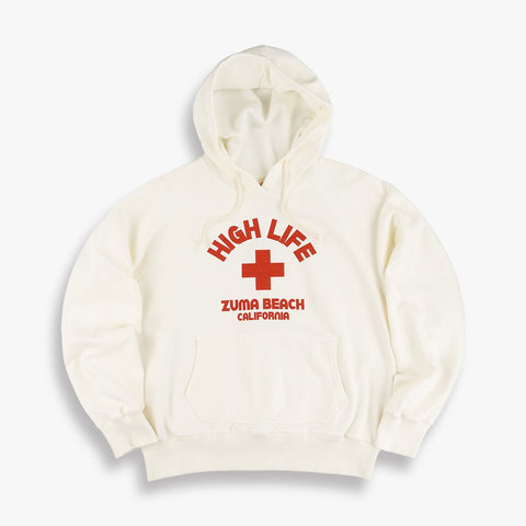High Life Hooded Sweatshirt in White