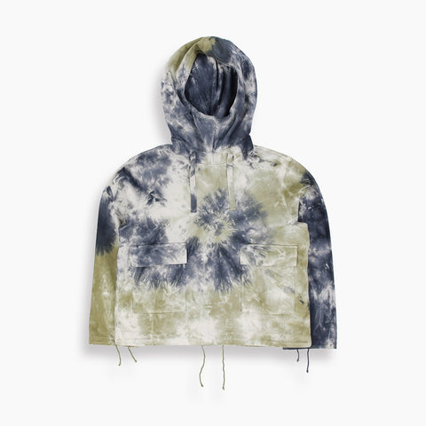 Cosmos Tie-Dye Mojave Smock in Navy and Olive