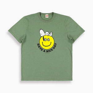 Nice Day Snoopy T-Shirt in Olive